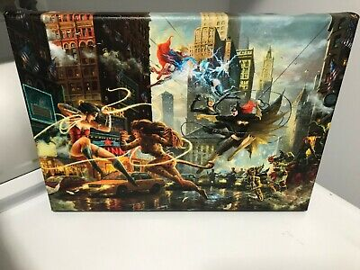 Other Comic Collectibles Thomas Kinkade Studios Dc The Justice League 10 X 14 Gallery Wrap Canvas Collectibles