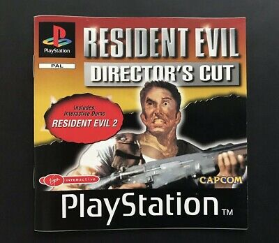 PlayStation One PS1 Booklet PS1 Manual Resident Evil Director's Cut