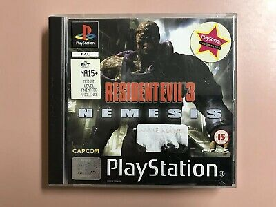 PlayStation One PS1 Booklet PS1 Manual Resident Evil 3 Nemesis