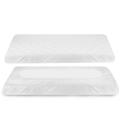 Baby Waterproof Mattress Pad Cover, Zooawa Reusable Super Soft Breathable Crib x