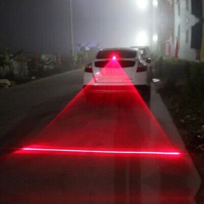 Car Auto LED Laser Fog Light Vehicle Anti-Collision Taillight Brake Warning Lamp
