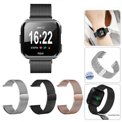 Milanese Magnetic Loop Stainless Steel Replacement Band Strap for Fitbit Versa