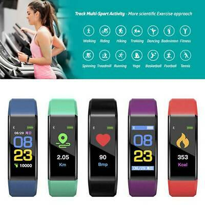 Fitness Smart Watch Activity Tracker Heart Rate For Women Men Fitbit Android iOS