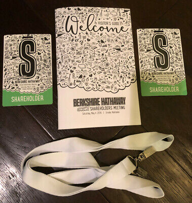 Berkshire Hathaway 2019 Annual Shareholders Meeting Credentials Set (2 tickets)