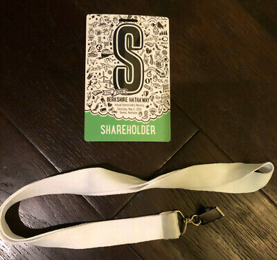 Berkshire Hathaway 2019 Annual Shareholders Meeting Credential (1 ticket)