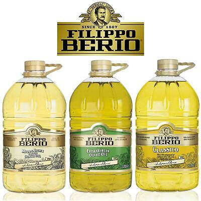 Filippo Berio Mild Light Classic Extra Virgin Olive Bake Dressing Cooking Oil 5L