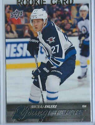 2015-16 UD Series 1 Hockey Young Guns Nikolaj Ehlers Rookie Card Rc #223