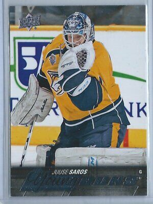 2015-16 UD Series 2 Hockey Young Guns Juuse Saros Rookie Rc Card # 464