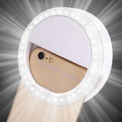 LED Selfie Ring USB Rechargeable Fill Light Camera Photography For All Phones AU