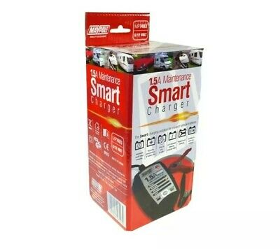 Smart Battery Trickle Charger 6V & 12V 1.5a Automatic Electronic Maypole Mp7403