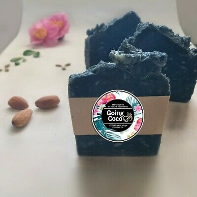1 x ACTIVATED CHARCOAL Organic Coconut Oil- EBONY-Handcrafted vegan soap