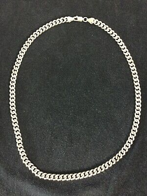 """HEAVY 25g Solid STERLING SILVER 925 NECKLACE, CURB CHAIN 20"""" INCH LONG Men's"""