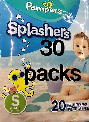 30 Packs Pampers Splashers Swim Diapers Disposable Pants Small 13-24 lb 20 Count