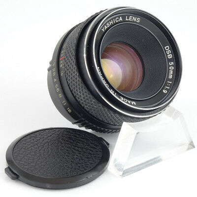 Yashica 50mm f/1.9 Prime Portrait Lens Contax/Yashica Mount *GOOD CONDITION*