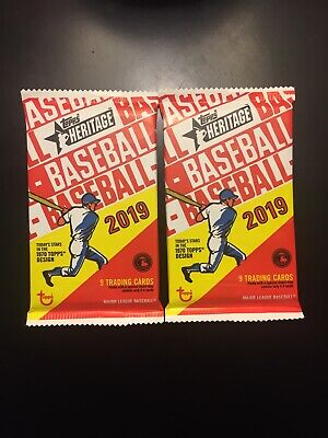 2019 Topps Heritage High Number SHORT PRINT SP (2x) Hot Pack LOT from box