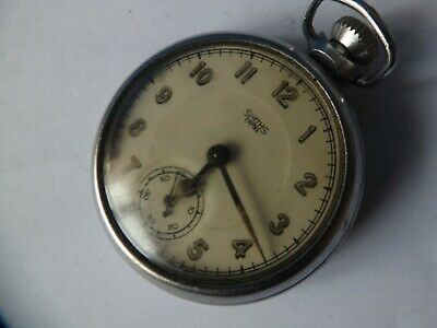 a vintage smiths empire top wind open face pocket watch