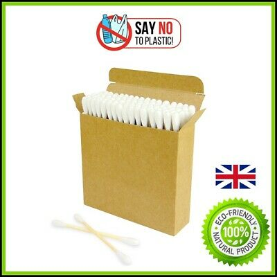 Bamboo Cotton Ear Buds Wooden Vegan Swabs 100% Eco Friendly Biodegradable Uk Top