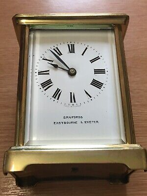 French Antique Carrage Clock by Brufords Of Eastbourne & Exeter