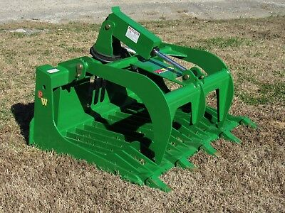 "John Deere Tractor Loader Attachment - 48"" Rock Bucket Grapple - Free Ship!"