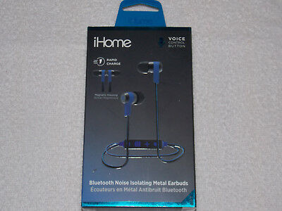 995cec40bb1 iHOME BLUETOOTH NOISE-ISOLATING METAL EARBUDS W/RAPID-CHARGE BRAND ***