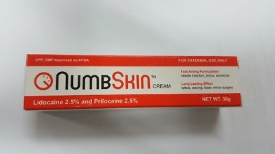 Numbskin 2.5% Lidocaine 2.5% Prilocaine 30g numbing cream