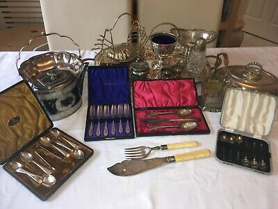 JOB LOT Of (16) Various EPNS Silver Plated Items - 15 Edwardian pieces + One