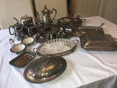 JOB LOT Of 17 Various EPNS Silver Plated Items 1940-1960