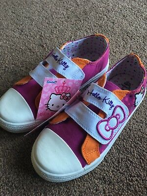 NEW M&S Hello Kitty Girls Trainers Shoes Size 13 Pink