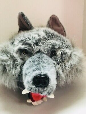 3dc9d2275 ADULT WEREWOLF TEEN WOLF Puppy Dog Coyote Faux Fur Costume HAT ...