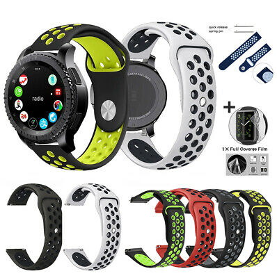 Silicone Band Watch Strap 42mm Bracelet For Samsung Galaxy Watch 46mm Gear S3 S2