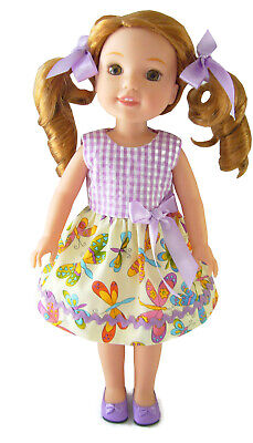 that fit Wellie Wisher Wishers Dolls #480 Lavender Dress Shoes