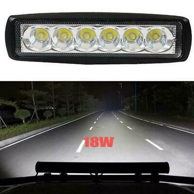 1x 18W Spot Flood LED Work Light Bar Driving Lamp 4WD SUV Truck UTE Offroad ATV