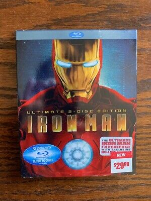 Iron Man (Blu-ray Disc, 2008, 2-Disc Set, Ultimate Edition) Slipcover