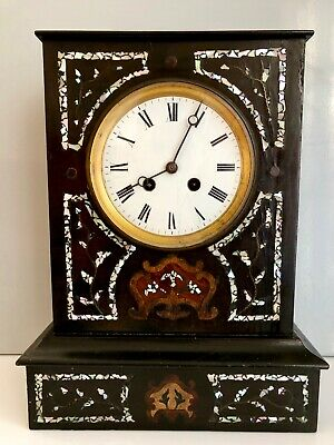 Japy Freres French Clock - Inlay Mother of Pearl - PENDULE NAPOLEON III