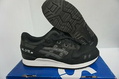ASICS HOMME GEL Lyte III Chaussures Course Noir Blanc Taille 10.5 US
