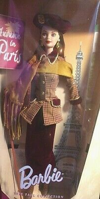 1998 Autumn in Paris Barbie Doll City Seasons Collector Edition new Mattel