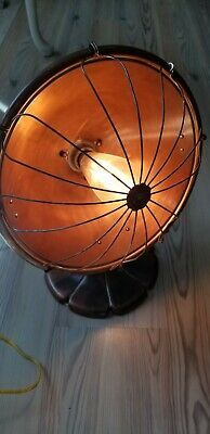 Re-purposed Steampunk  Heater Copper Reflector THERMAX 1922 Table Top Lamp