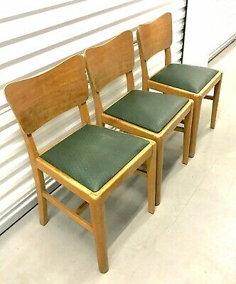 Lovely Mid Century G Plan Teak Dining Chairs X 3 Butterfly Back Danish Style