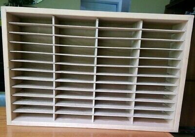 Napa Valley Box Co 48 Cassette CD 8 track Tape Wood Storage Holder Wall Rack