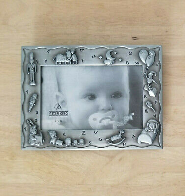 Malden 4x6 baby picture frame. Toy soldier Moon & stars, balloons, rocking horse