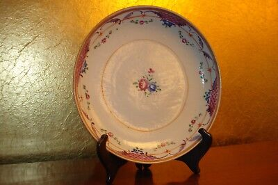 Antique 18Th Century Chinese Export Porcelain Charger / Bowl Famille Rose Color