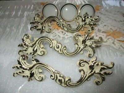 3 French Provincial Drawer Pull Handles 3 Button Top Knobs Goldtone Canada