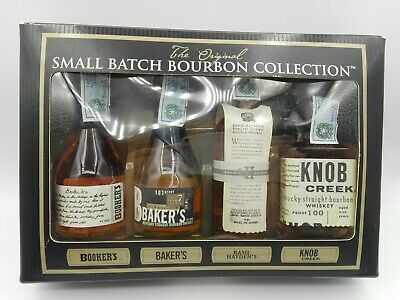 4 Mignon miniature minibottle Small Batch Bourbon Collection Box