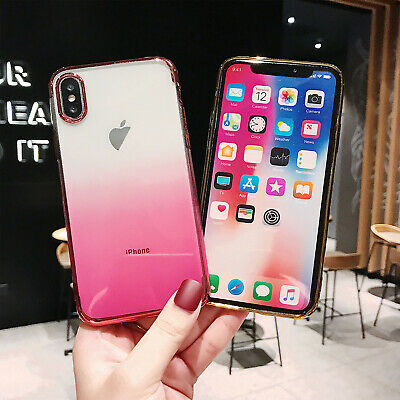 For iPhone XS Max XR X 8 7 6s Plus Clear Soft TPU Silicone Ultra Thin Case Cover