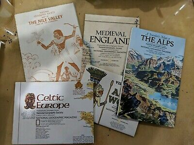 National Geographic Celtic Europe Nile Valley Alps Aztec Medieval England
