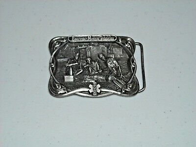 Vintage Emergency Medical Technician Belt Buckle Z-42 Bergamont Brass Works