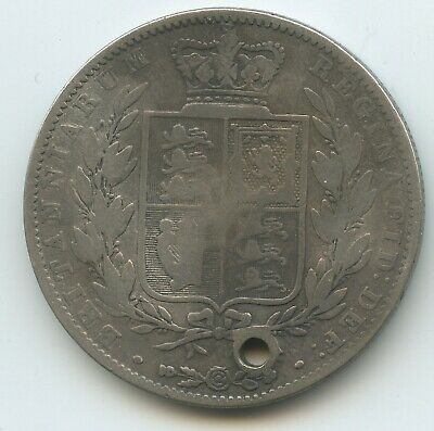 G2156 - Großbritannien Half Crown 1844 KM#740 RAR Silber Victoria Great Britain