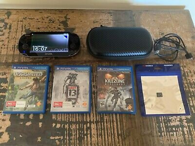 PlayStation Vita In Excellent Condition- 3 Awesome Games- Charger & 8 Gig Memory