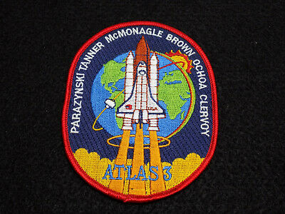 """Official NASA STS-66 Patch Space Shuttle Atlas 3 - 4"""" Iron-On"""