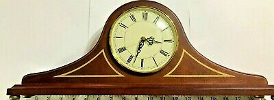 Vintage The Bombay Company Wood Mantel Clock